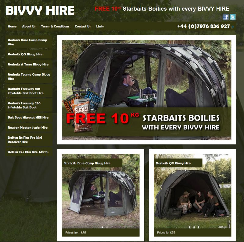 Chelmsford Essex Web Design - Bivvy Hire