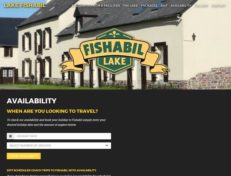 Chelmsford Essex Web Design - Lake Fishabil