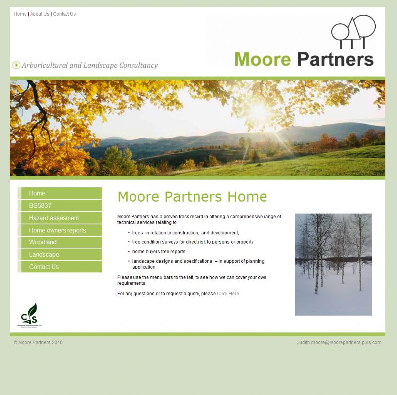 Chelmsford Essex Web Design - Moore Partners