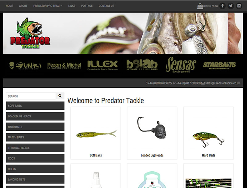 Chelmsford Essex Web Design - Predator Tackle