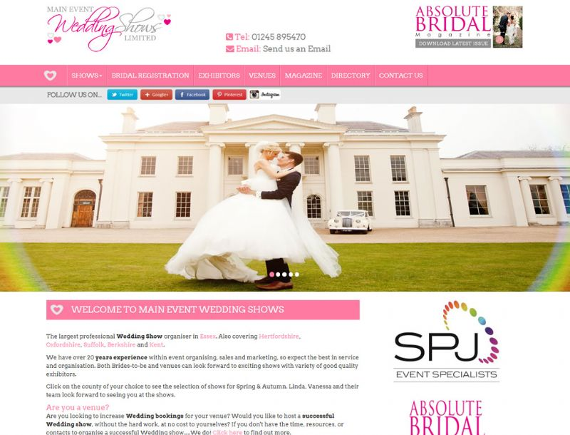 Chelmsford Essex Web Design - Main Weddings And Events