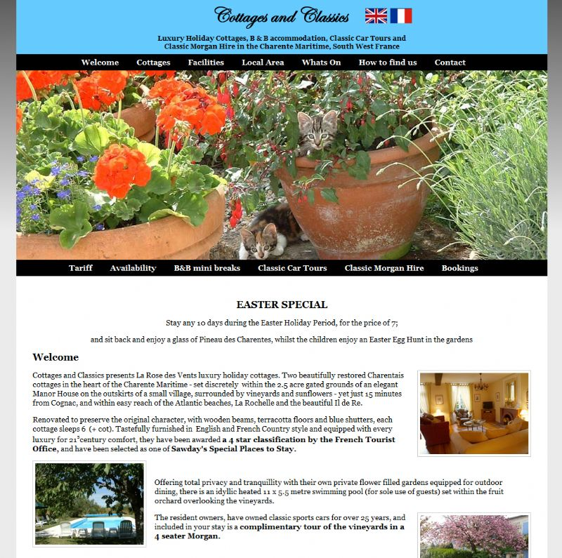 Chelmsford Essex Web Design - Cottages And Classics