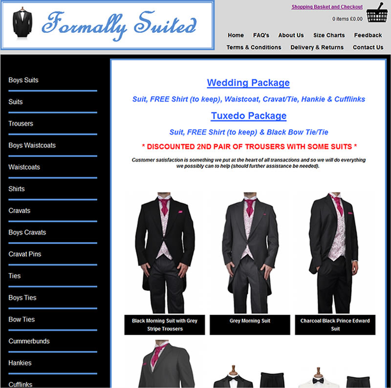Chelmsford Essex Web Design - Formally Suited
