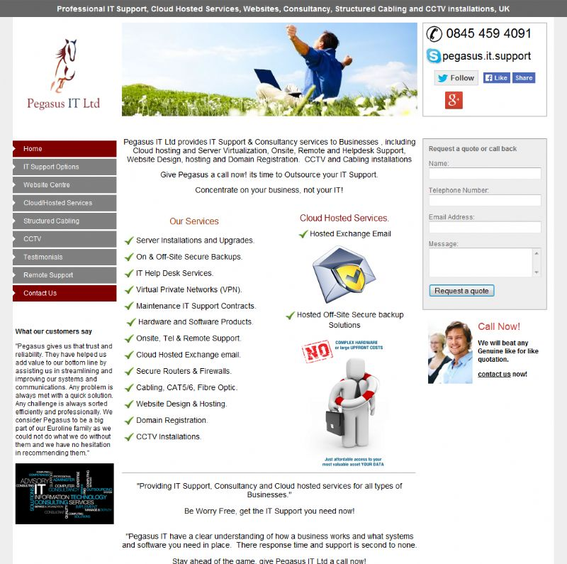 Chelmsford Essex Web Design - Pegesus IT Solutions
